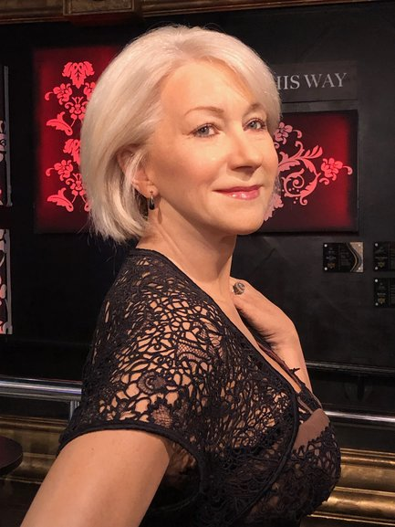 The real Helen Mirren or Madame Tussauds