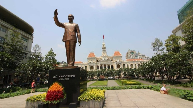Ho Chi Minh Statue and City Hall