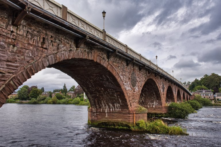 The Perth Bridge across the Tay River