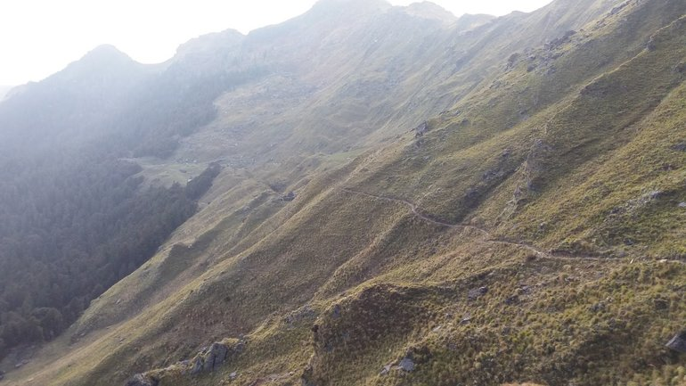 Trail from Gurson bugyal toTali