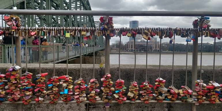 Lovelocks bridge Cologne