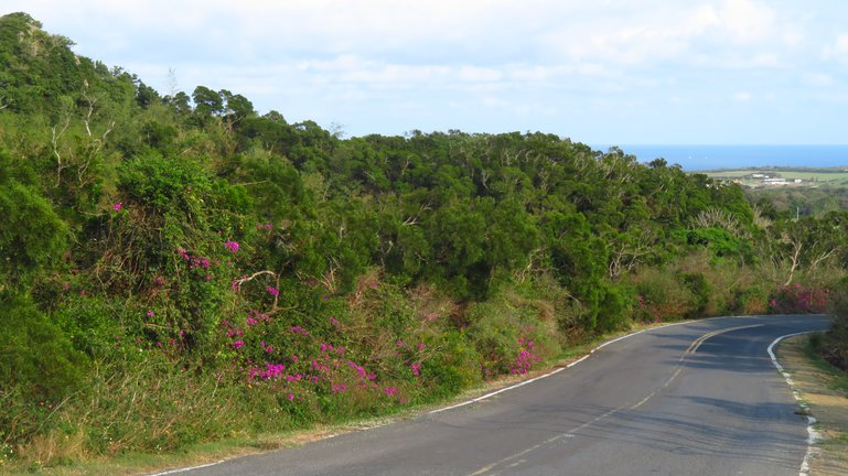 Road between the Kenting Recreation Area and Sail Rock