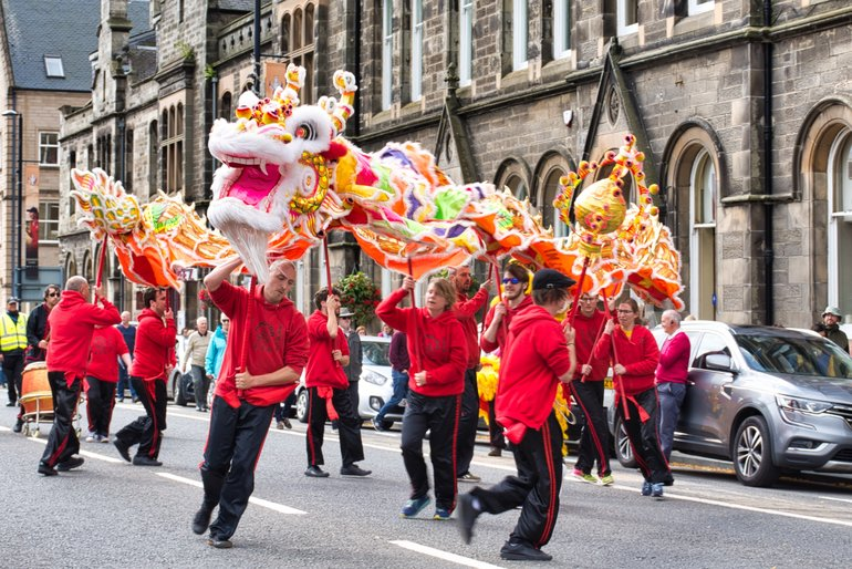 The Chinese Dragons at the end of the Parade