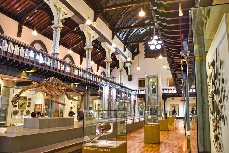 The main exhibition room in the Hunterian Museum