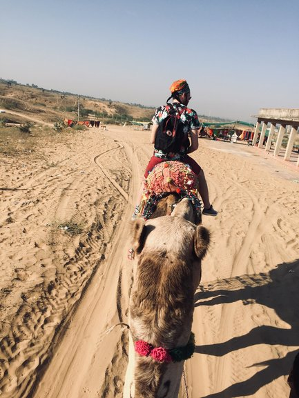On a camelsafari in the Thar desert
