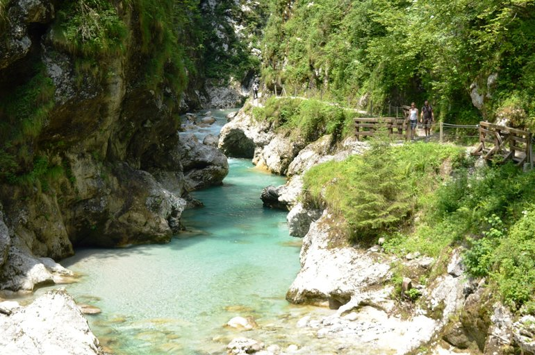 The Tolmin Gorge is a great choice for hot summer days.
