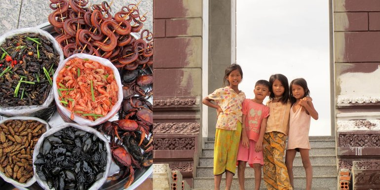 food and children of Cambodia