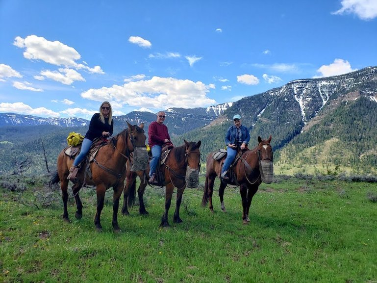 Horseback riding in the Shoshone Forest between Cody, WY and Yellowstone NP