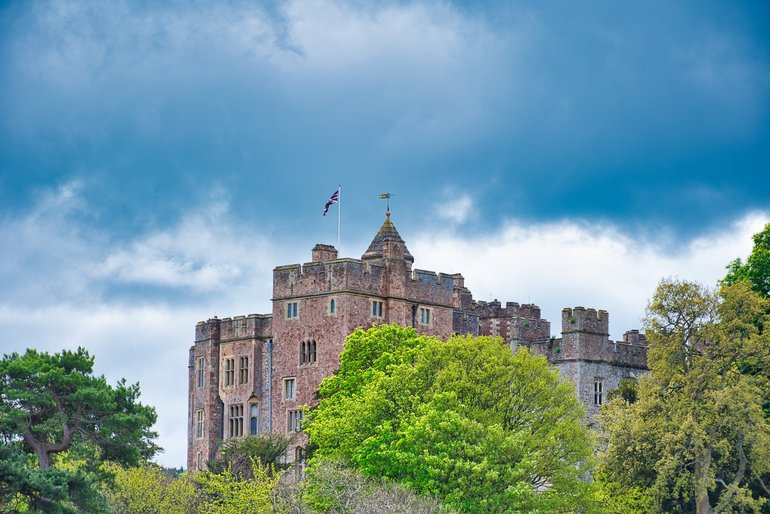 Dunster Castle from the Village