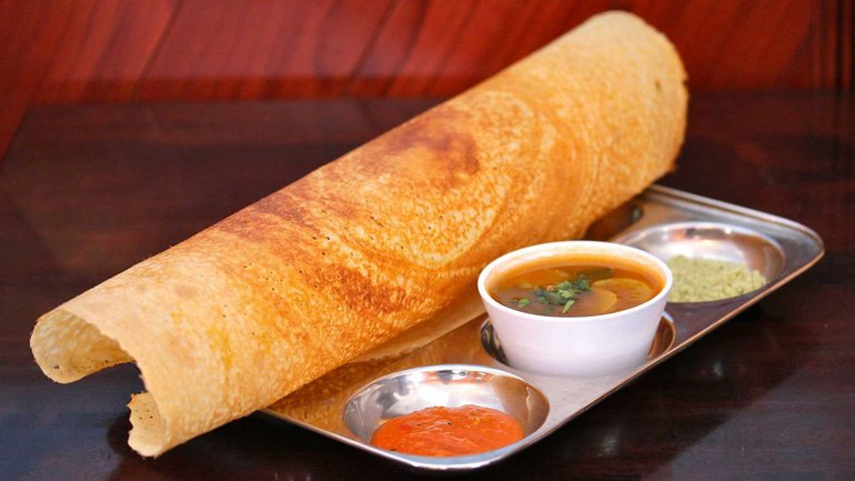 Dosa, a South Indian dish
