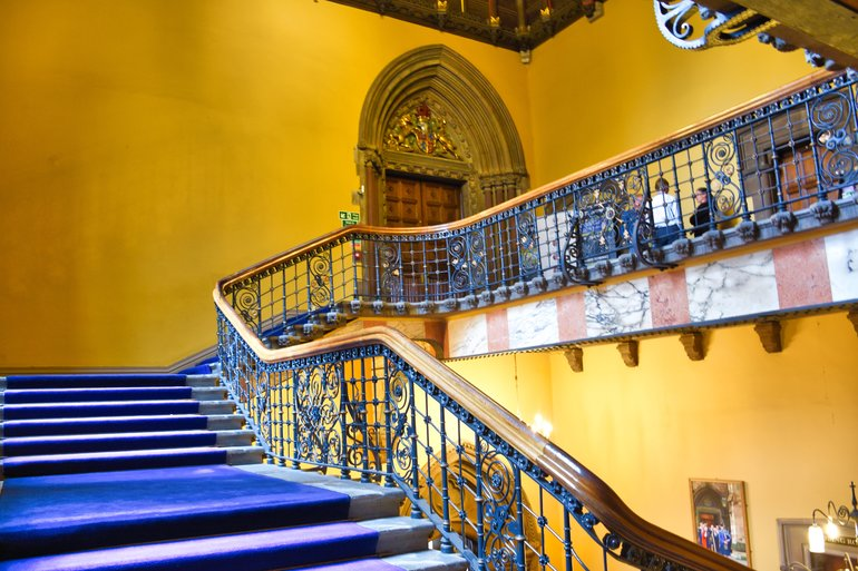 The staircase up to the Hunterian Museum