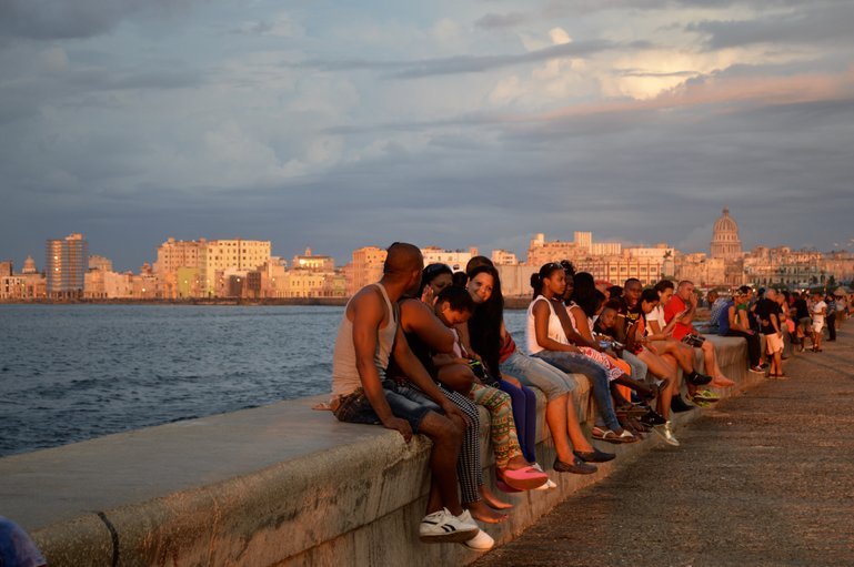 The Malecon is a very diverse kaleidoscope and is the most democratic space in Cuba