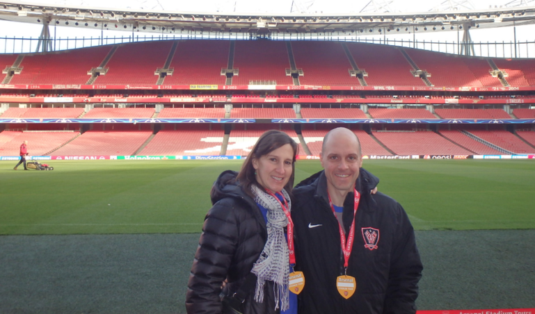 Arsenal stadium tour in north London