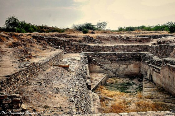 The site includes reservoirs, step well, and various other antiquities such as seals, beads, animal bones, gold, silver, terracotta ornaments and vessels.