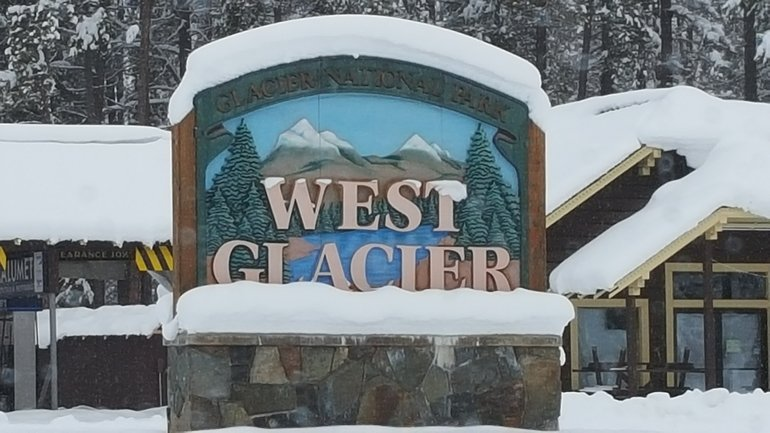 The entrance to West Glacier