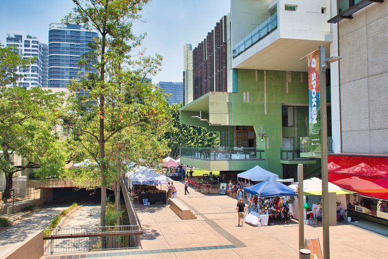 The Handmade Markets wrap around the corner of the State Library