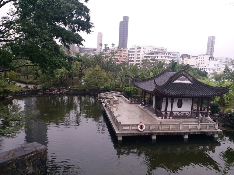 The pond at Kowloon Walled City Park