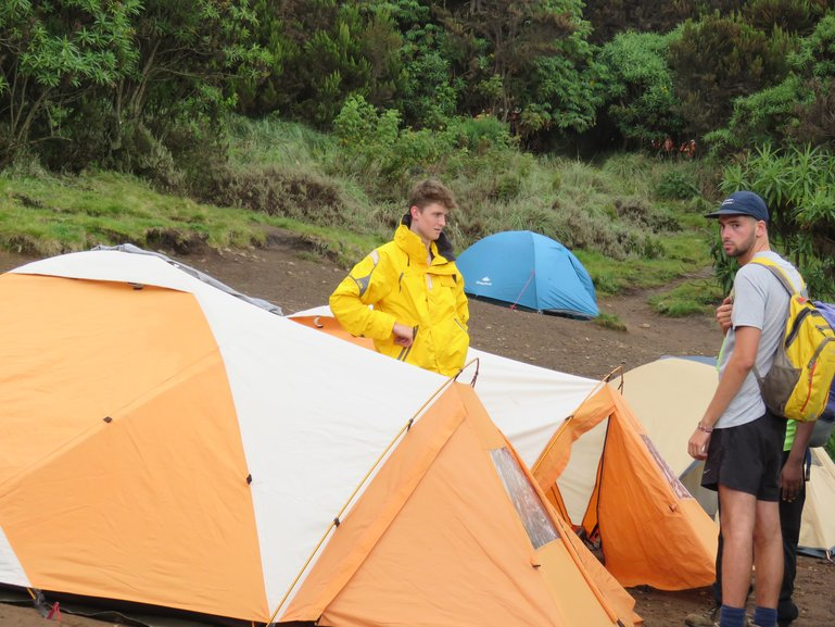 Tent Making at The Campsite via Machame Route