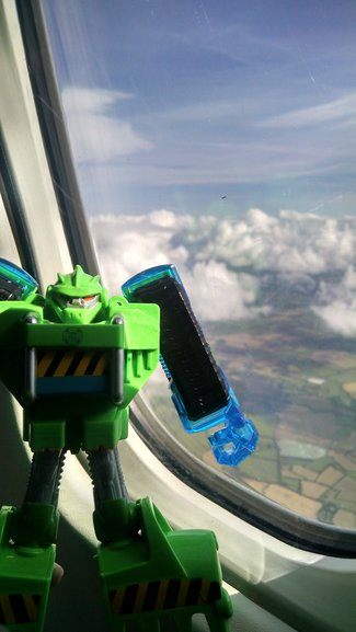 Boulder, our mascot, flying over Ireland