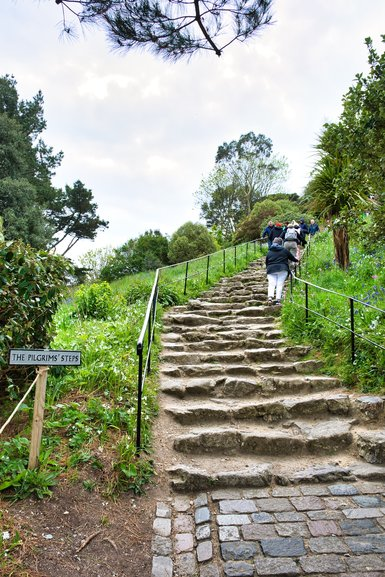 The very uneven Pilgrims' Steps