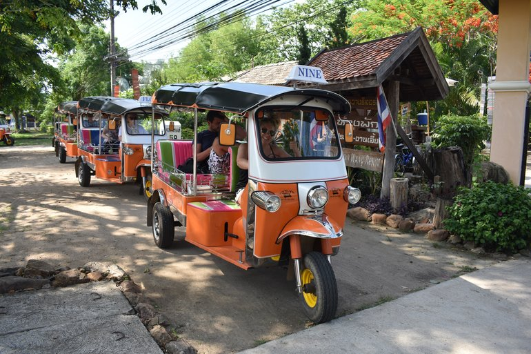 ENJOYING THE TUK TUKS