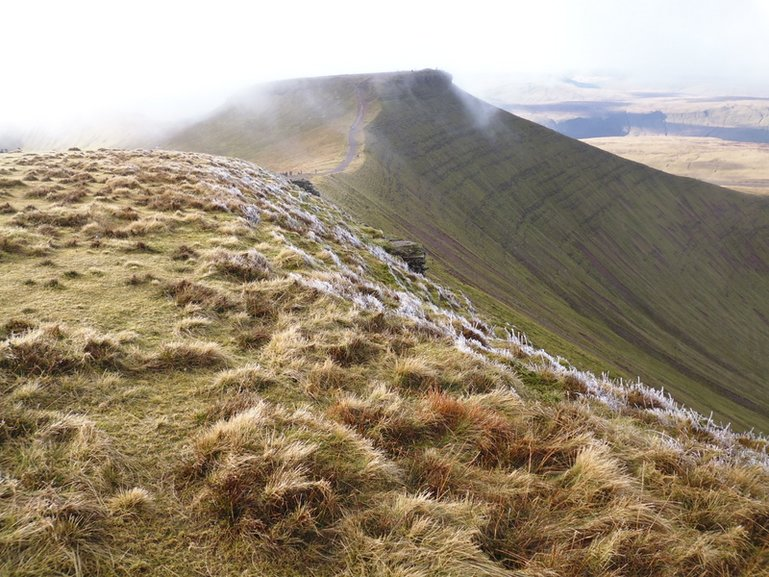 View of Corn Du from Pen y Fan