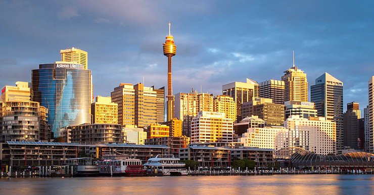Sydney Tower from Darling Harbour