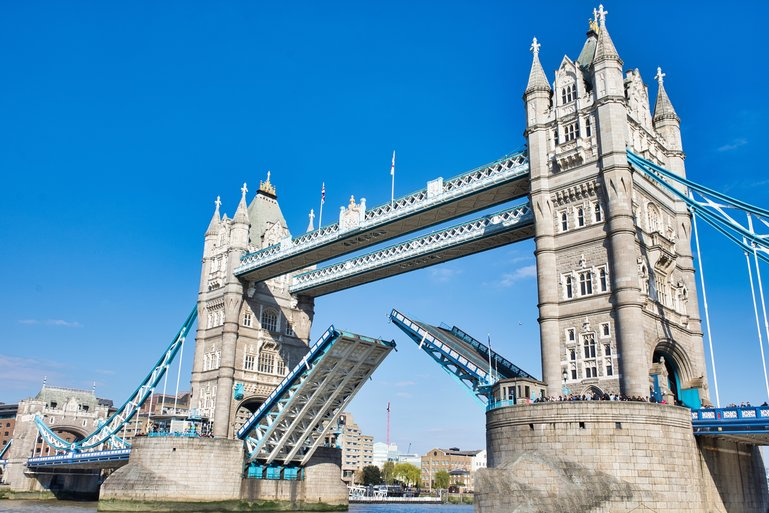 A once in a lifetime sight of Tower Bridge lifted