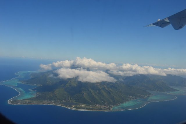 Tahiti, high mountainous island