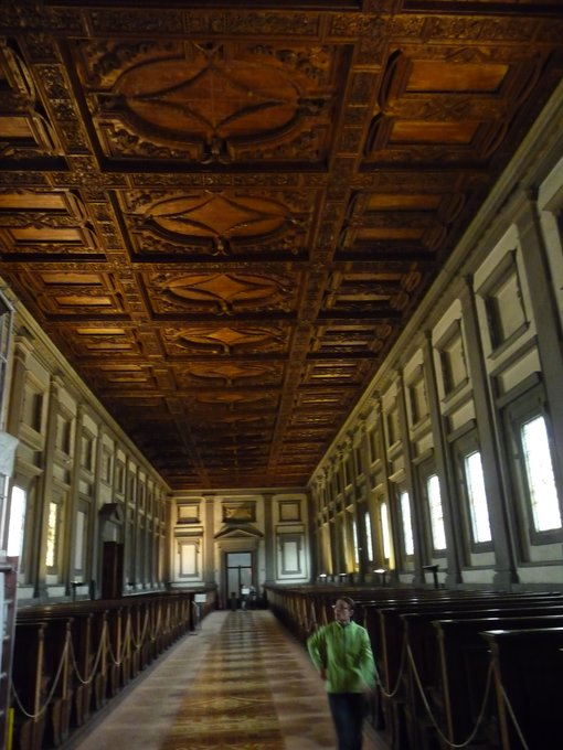 Visiting Medici Library, Florence, Italy