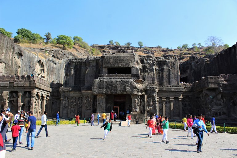 Front View of Cave 16 (The Kailasha Temple)