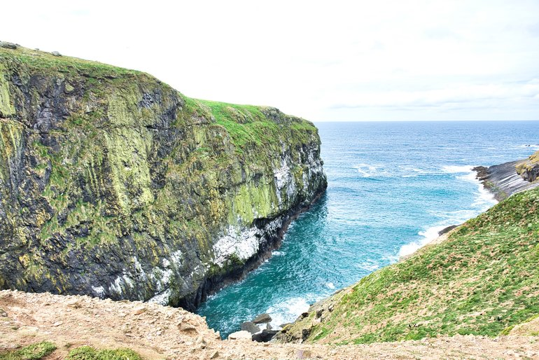 The dramatic piece of coastline called The Wick. This is where the biggest colony of Puffins were.