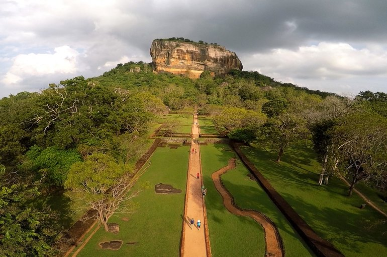 Sigiriya, an ancient rock fortress, northern Matale District