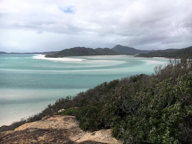 Whitehaven beach in stormy weather is still beautiful!