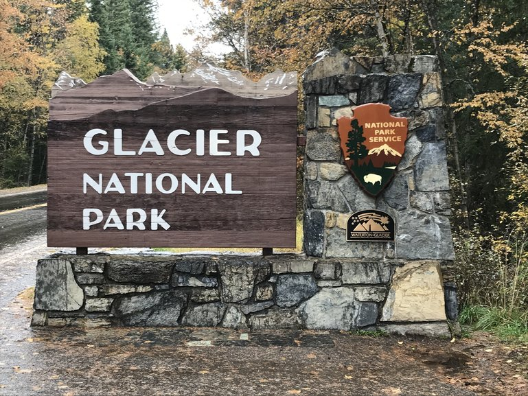 The entrance to Glacier National Park