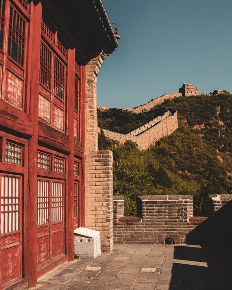 Restored guard tower great wall of China