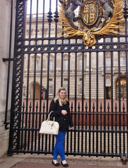 Myself in front of Buckingham Palace