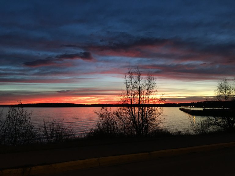Sunrise over the marina, Cold Lake, Alberta, Canada