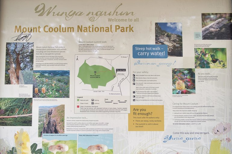 Mt Coolum stands over the Sunshine Coast and the track description
