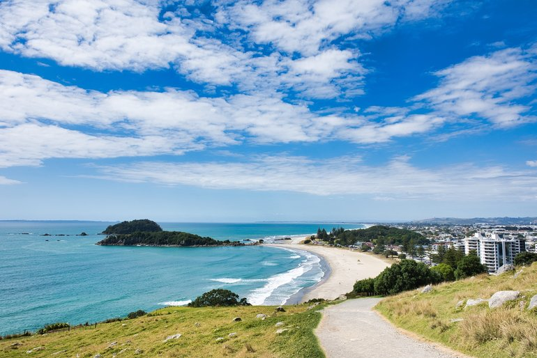 Starting up the track from Mount Maunganui Beach