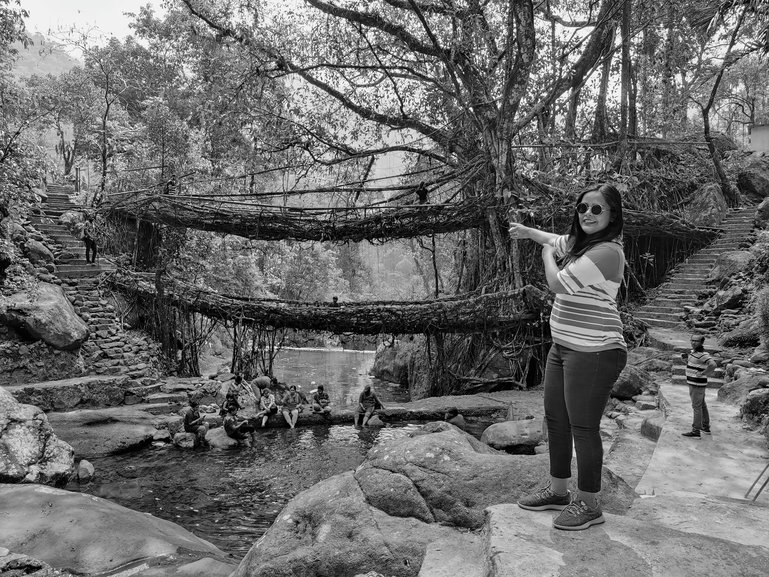 I Trekked Down To Double Decker Living Root Bridge & Rainbow Waterfalls