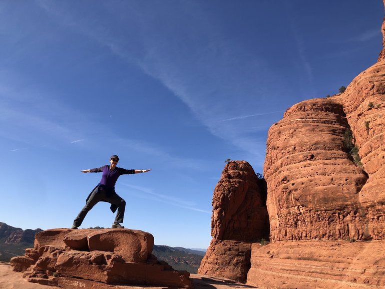 Yoga on the red rocks