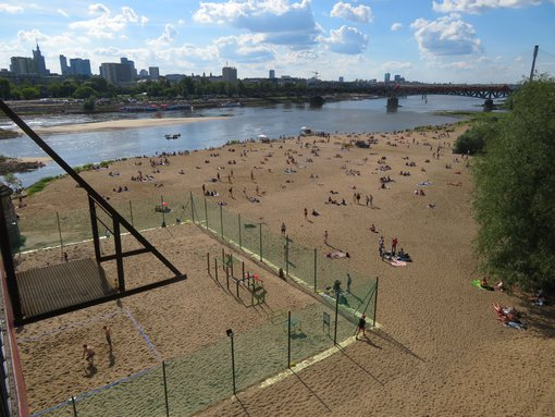 Vistula River Beach in Warsaw