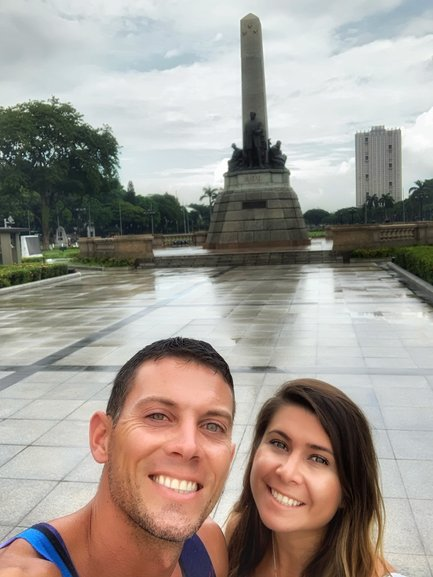 Brady and Bianca at Rizal Park