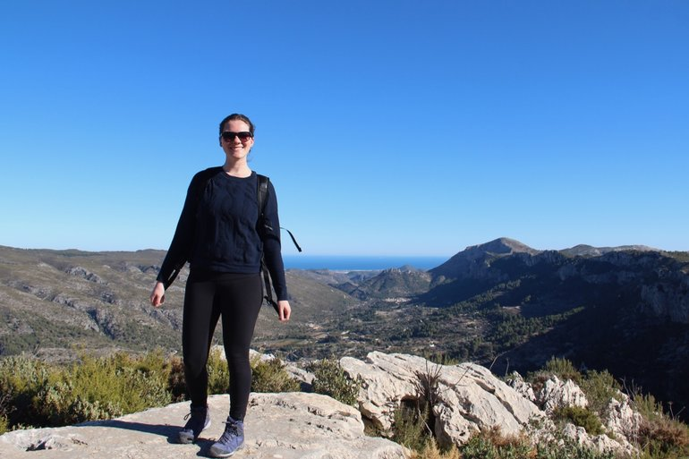 Hiking La Forada in Spain