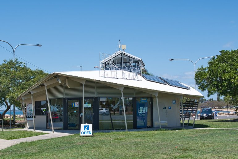 Your first stop should be the Information Centre at Pelican Park