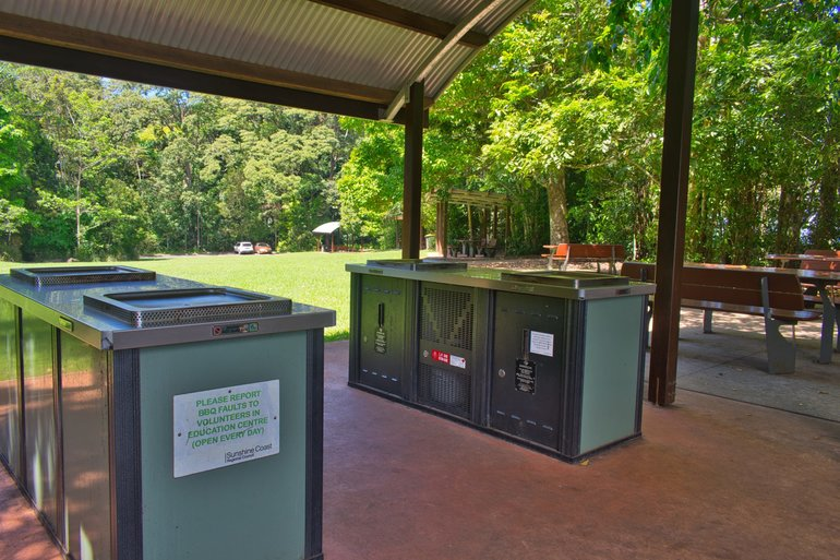 Plenty of BBQs and picnic tables are on-site for you to enjoy on your visit