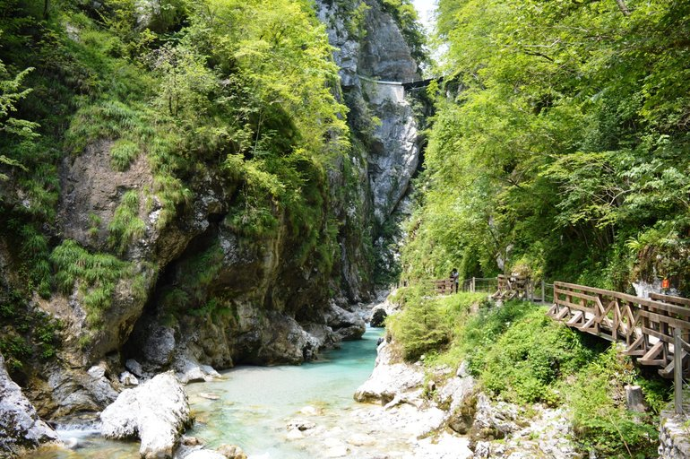 The Tolmin Gorge is the lowest and southernmost entry point into the Triglav National Park.