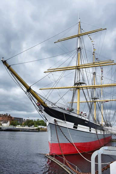 The Tall Ship which you can explore is behind the museum