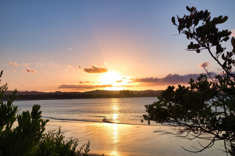 Sunsets and sunrises are the best at Byron Bay